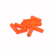 Mässingstuber - 10mm - 10st - Fluo Orange